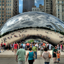 The Cloud Gate (bean sculpture)